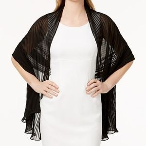 Betsey Johnson Georgette Pleated Evening Wrap